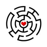 Переводная наклейка «Лабиринт любви»