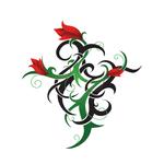 Переводная тату «Растительный узор»