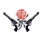 Переводная тату «Пистолеты с розой»