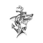 Переводная тату «Акула с якорем»