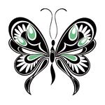Переводная наклейка «Черная бабочка»