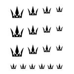 Водная наклейка на ногти «Корона»