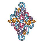 Переводная тату «Цветной узор»