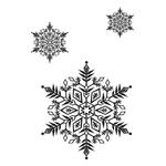 Переводная наклейка «Снежинки»