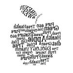 Переводная тату «Яблоко из слов»