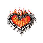 Переводная тату «Сердце дракона»