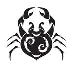 Переводная тату знак зодиака «Рак»
