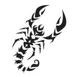 Переводная тату «Знак Скорпиона»