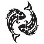 Переводная тату «Знак Рыбы»
