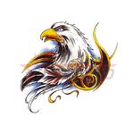 Переводная тату «Голова орла»