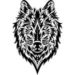 """Переводная татуировка """"Волк"""""""