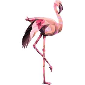 """Переводная татуировка """"Розовый фламинго"""""""